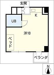 関権第3ビル[7階]の間取り
