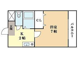 メゾン・エンジュ[2階]の間取り