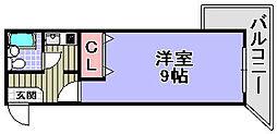 大阪府岸和田市加守町2丁目の賃貸マンションの間取り