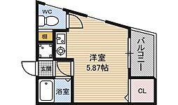 メニュール新福島マンション[1階]の間取り
