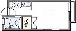 レオパレス東大路ハシモト[1階]の間取り