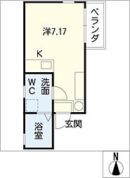 翔SUGO 2階ワンルームの間取り