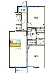 ユニティ−・タウン菜根屋敷[103号室]の間取り
