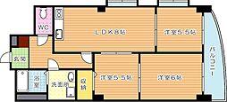 レリアンス(特定優良賃貸住宅)[4階]の間取り