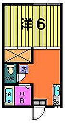 稲荷山ハイツ[2-B号室]の間取り