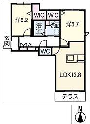 仮)ベレオ中平[1階]の間取り