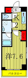 東京メトロ南北線 志茂駅 徒歩2分の賃貸マンション 3階1Kの間取り