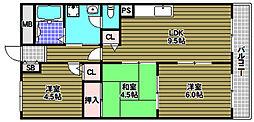 狭山ハウス3号棟[2階]の間取り