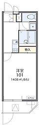 大阪モノレール 門真市駅 徒歩16分の賃貸マンション 2階1Kの間取り