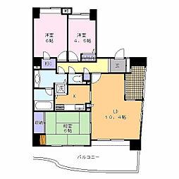 J'city新杉田[6階]の間取り