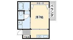 ロイヤル日根野[2階]の間取り