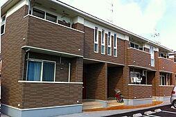 広島県福山市駅家町大字法成寺の賃貸アパートの外観