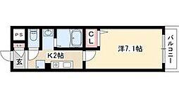 愛知県名古屋市西区浄心1丁目の賃貸マンションの間取り