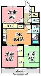 プラムマンション[104号室]の間取り