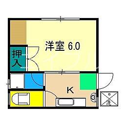マルイマンション[3階]の間取り
