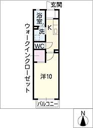 ニシケイ緑ハイツ[2階]の間取り