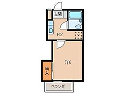 ジョイフル24[2階]の間取り