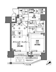 ZOOM横浜 5階1DKの間取り