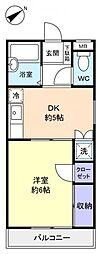 ヴァンマンション[1階]の間取り