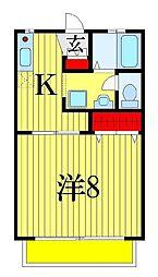 サンパークアドII[2階]の間取り