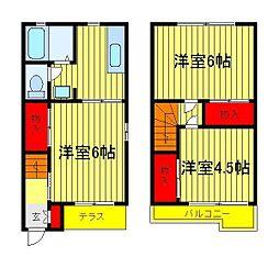 豊エステート B棟[1階]の間取り