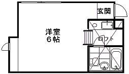 新潟県新潟市中央区山二ツ1丁目の賃貸アパートの間取り