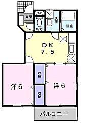 ピュアハウス[0101号室]の間取り