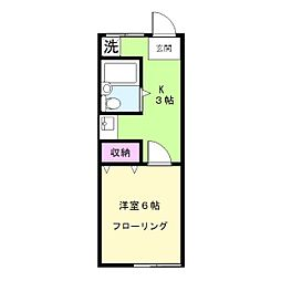 ハイツ松崎[202号室]の間取り