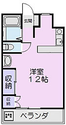 マンションYAMADA A[1号室]の間取り