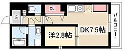 Brave亀島本陣 5階1DKの間取り