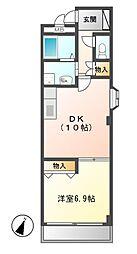 愛知県名古屋市名東区香流1の賃貸マンションの間取り