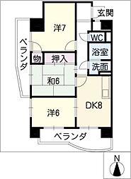 メゾン野菊[7階]の間取り