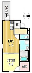 フジパレス喜連西II番館[1階]の間取り