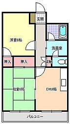 ファーストハイツ駒川[5階]の間取り