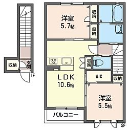 仮称 上新田町シャーメゾン[2階]の間取り