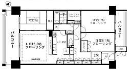 東急多摩川線 下丸子駅 徒歩13分の賃貸マンション 4階3LDKの間取り