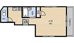 ペントハウス17[6階]の間取り