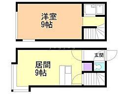 メゾンド東札幌 1階1LDKの間取り
