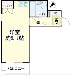 神奈川県横浜市鶴見区生麦4丁目の賃貸マンションの間取り