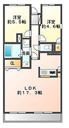 ライオンズマンション京成大久保[4階]の間取り