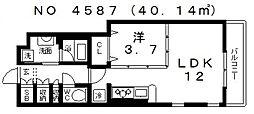 アーバンテラスアベノ[3階]の間取り