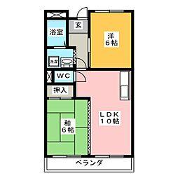 メゾン静[1階]の間取り