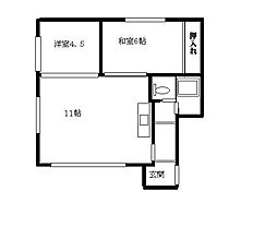北海道札幌市白石区北郷四条5丁目の賃貸アパートの間取り