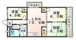 ハイネスAONO[5階]の間取り