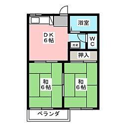 ロイヤルフレグランスA[2階]の間取り
