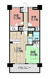 エバーライフ東平尾公園 702号室[702号室]の間取り