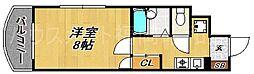 ボンリッシュ21[4階]の間取り