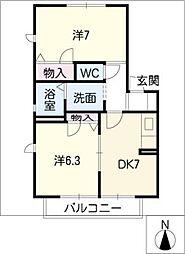 コート・ソレアード[1階]の間取り