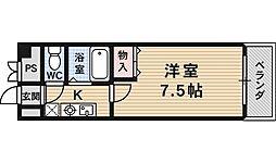 サンロイヤル藤ノ森[106号室号室]の間取り