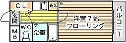 シャルム橋本III[403号室]の間取り